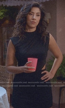 Rosa's black dress with cutout on Brooklyn Nine-Nine