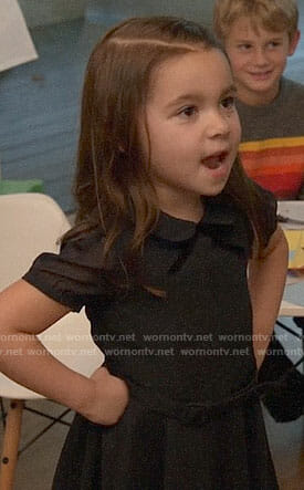 Ruth's black collared dress with bow on New Girl