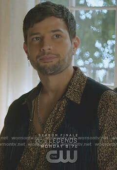 Sam's leopard print shirt on Dynasty