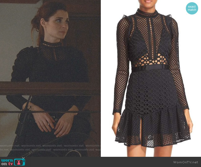 Hall Lace Mesh Minidress by Self Portrait worn by Shiri Appleby on UnReal