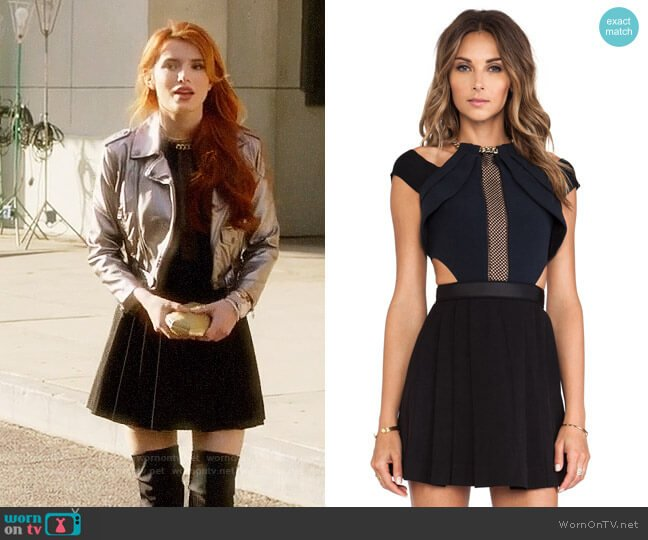 Self Portrait Chained Up Dress worn by Bella Thorne on Famous in Love