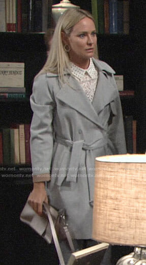 Sharon's grey coat on The Young and the Restless