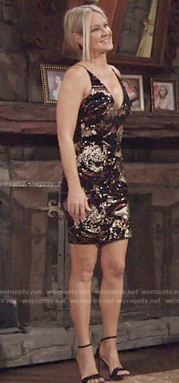 Sharon's sequin dress on The Young and the Restless