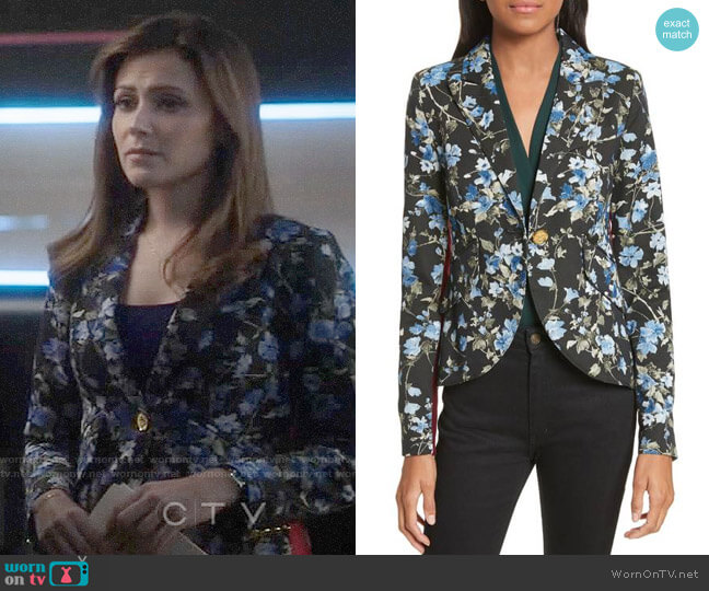 Smythe Floral Jacquard Blazer worn by Emily Rhodes (Italia Ricci) on Designated Survivor