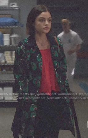 Stella's floral coat on Life Sentence