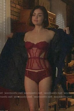 Stella's red lingerie on Life Sentence