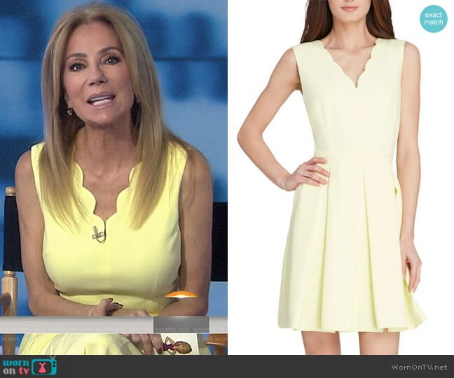 Scallop Fit & Flare Dress by Tahari ASL worn by Kathie Lee Gifford  on Today