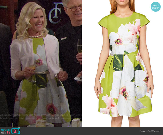 Ted Baker Lynetta Chatsworth Bloom Skater Dress worn by Alley Mills on The Bold & the Beautiful