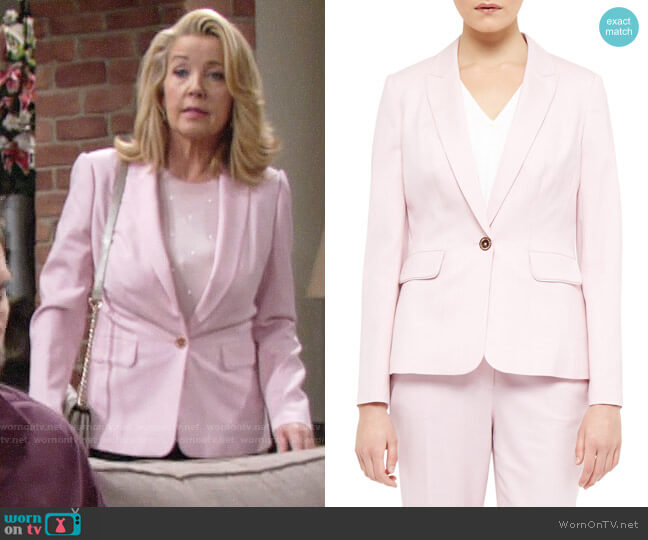 Ted Baker Soreli Tailored Jacket worn by Nikki Reed Newman (Melody Thomas-Scott) on The Young & the Restless