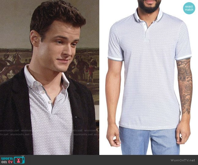 Ted Baker Aven Polo worn by Kyle Abbott (Michael Mealor) on The Young & the Restless