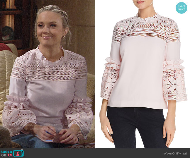 Ted Baker Poppyy Top worn by Melissa Ordway on The Young & the Restless