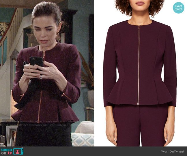 Ted Baker Suria Jacket worn by Amelia Heinle on The Young & the Restless