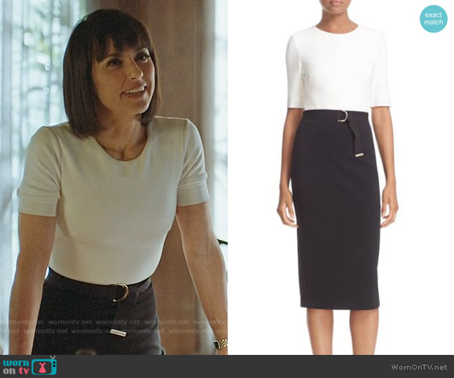 Ted Baker Wandee Dress worn by Constance Zimmer on UnReal