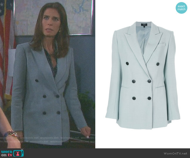 Double Breasted Blazer by Theory worn by Hope Williams (Kristian Alfonso) on Days of our Lives