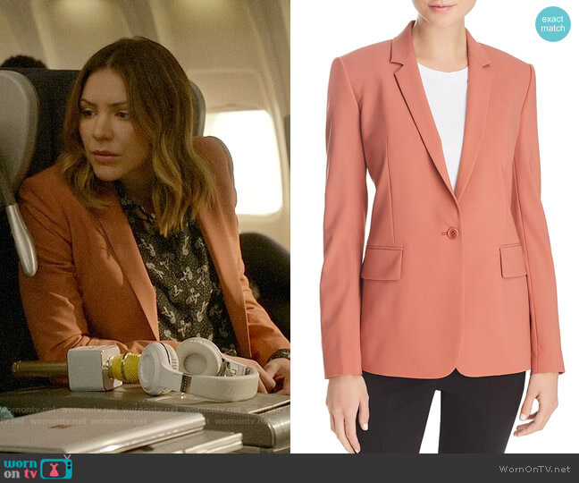 Theory Pink Russet Essential Blazer worn by Katharine McPhee on Scorpion