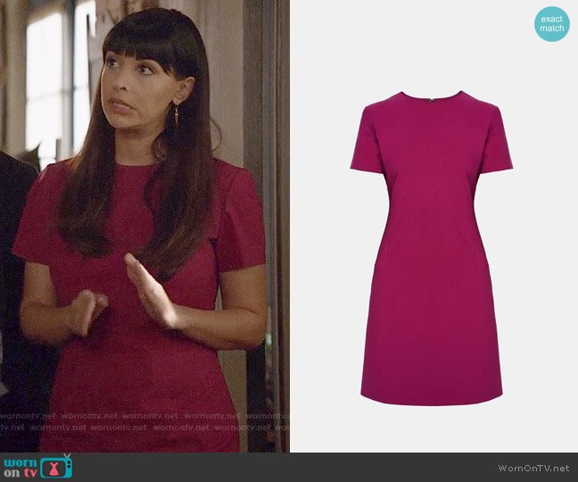 Theory Jatin Dress worn by Hannah Simone on New Girl