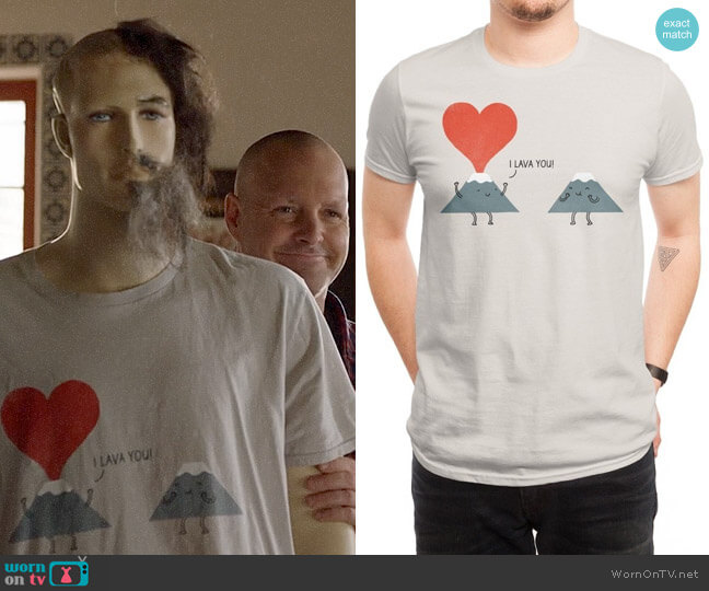 Threadless I Lava You T-shirt worn by Phil Miller (Will Forte) on Last Man On Earth