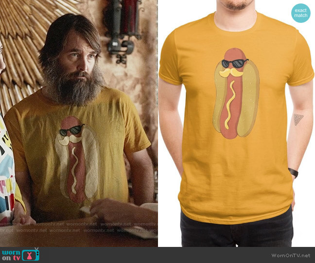 Threadless Moustardche! T-shirt worn by Phil Miller (Will Forte) on Last Man On Earth