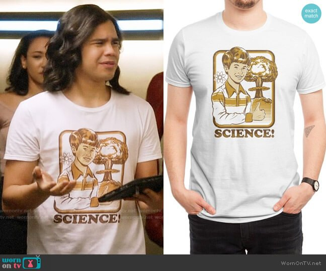 Threadless Science! T-shirt worn by Carlos Valdes on The Flash