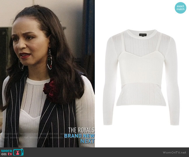 Topshop Corset Pointelle Top worn by Shaun (Carra Patterson) on The Arrangement