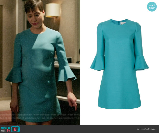 3c94ad4262 Valentino Bell Sleeve Dress worn by Lucca Quinn (Cush Jumbo) on The Good  Fight