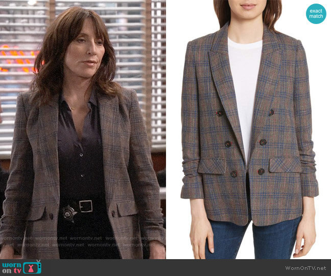 Veronica Beard Beacon Blazer worn by Randy DeLuca (Katey Sagal) on Superior Donuts