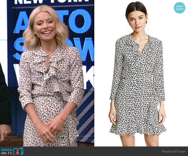 'Brisas' Dress by Veronica Beard worn by Kelly Ripa  on Live with Kelly & Ryan