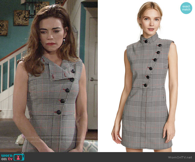 Veronica Beard Coco Dress worn by Victoria Newman (Amelia Heinle) on The Young & the Restless