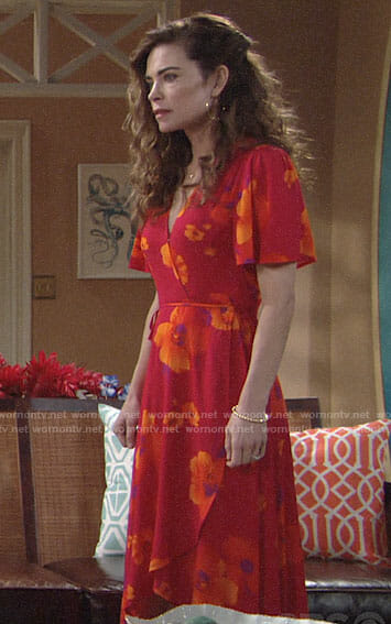 Victoria's floral dress in Hawaii on The Young and the Restless
