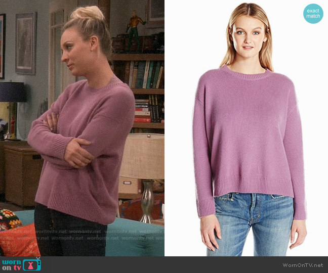 Vince Boxy Crew Sweater worn by Penny Hofstadter (Kaley Cuoco) on The Big Bang Theory