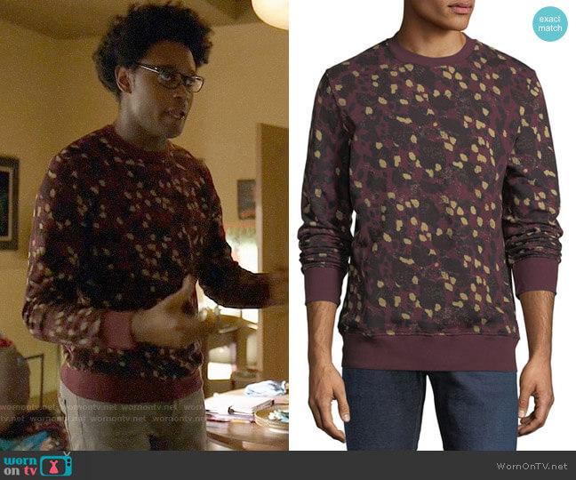 Wesc Miles Animal Printed Sweatshirt worn by Echo Kellum on Arrow
