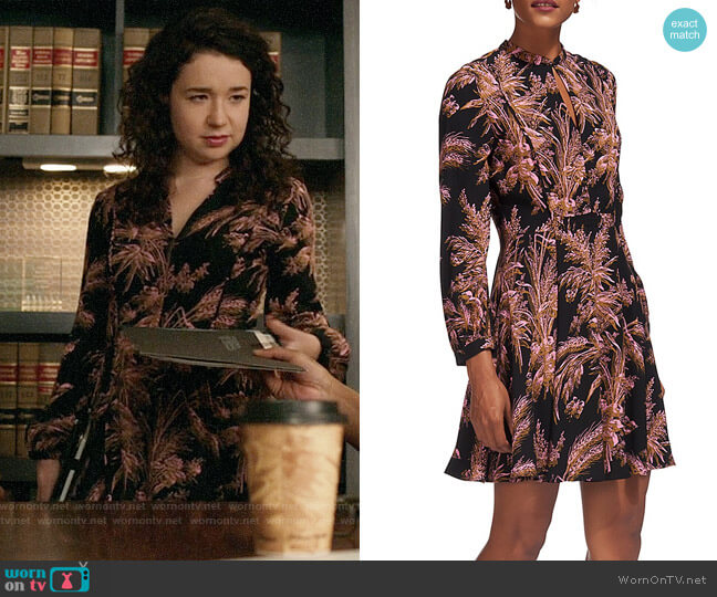 Whistles Camille Dress worn by Sarah Steele on The Good Fight