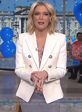 Megyn's white double breasted blazer on Megyn Kelly Today