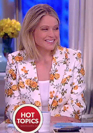 Sara's floral blazer on The View