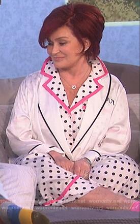 Sharon's polka dot pajamas on The Talk