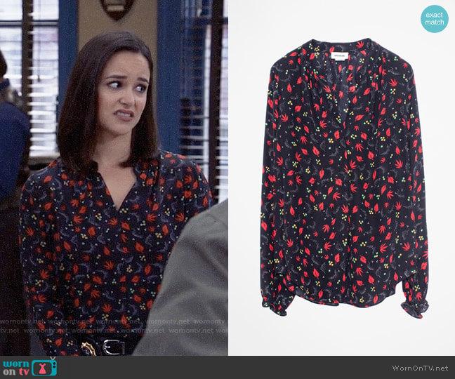 Zadig & Voltaire Tender Print Shirt worn by Amy Santiago (Melissa Fumero) on Brooklyn Nine-Nine