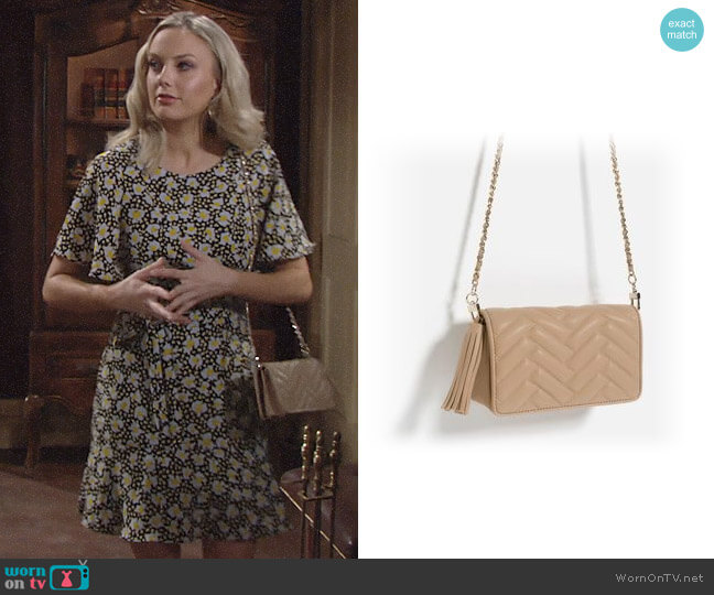 Zara Mini Cross Body Bag worn by Melissa Ordway on The Young & the Restless