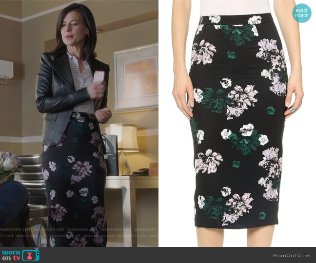 Bell Skirt by ALC worn by Nina Devon (Perrey Reeves) on Famous in Love