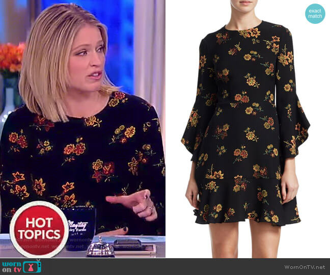 Cassidy Floral Silk Crepe Dress by ALC worn by Sara Haines on The View