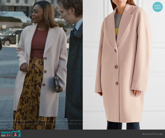 Landi oversized wool and cashmere-blend coat by Acne Studios worn by Patina Miller on Madam Secretary
