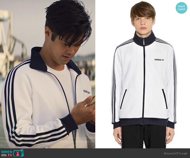 BB Track Jacket by Adidas worn by Zach Dempsey (Ross Butler) on 13 Reasons Why