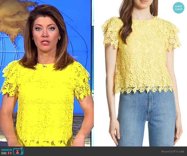 'Franca' Top by Alice + Olivia worn by Norah O'Donnell on CBS This Morning