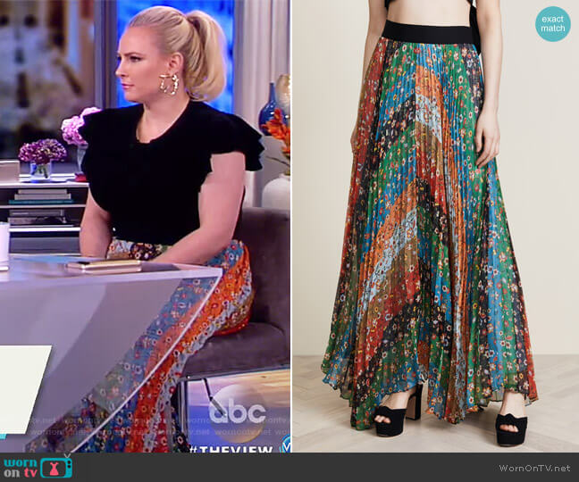 Katz Maxi Skirt by Alice + Olivia worn by Meghan McCain  on The View