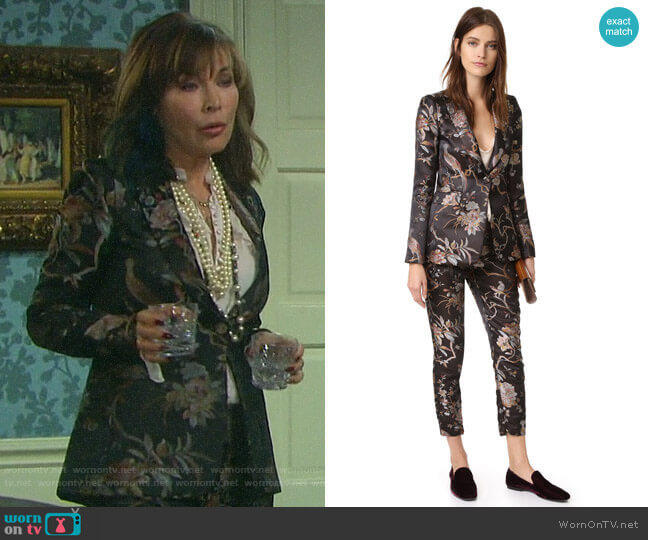 Alice + Olivia Macey Blazer and Stacey Pants worn by Kate Roberts (Lauren Koslow) on Days of our Lives