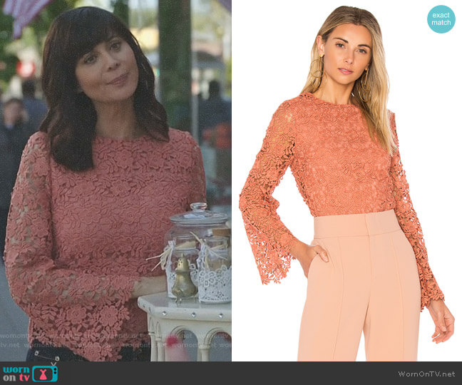 'Pasha' Top by Alice + Olivia worn by Catherine Bell on Good Witch