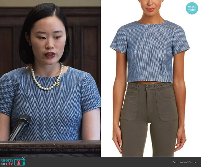 Sarina Crop Top by Alice + Olivia worn by Courtney Crimsen (Michele Selene Ang) on 13 Reasons Why