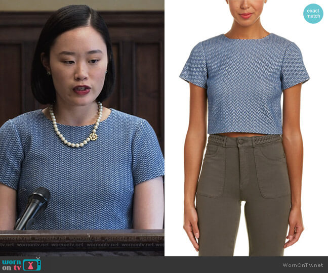 Sarina Crop Top by Alice + Olivia worn by Michele Selene Ang on 13 Reasons Why