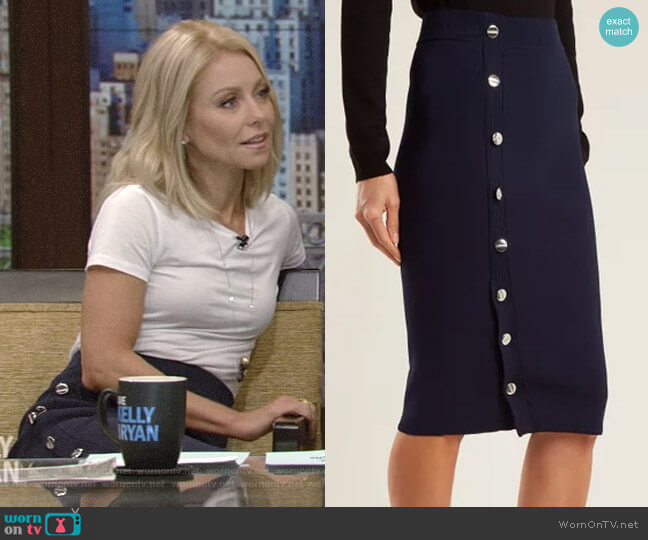 'Enya' Skirt  by Altuzarra worn by Kelly Ripa (Kelly Ripa) on Live with Kelly & Ryan