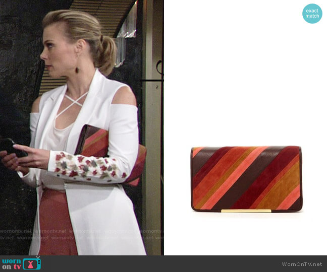 Bcbgmaxazria Farrah Clutch worn by Gina Tognoni on The Young & the Restless