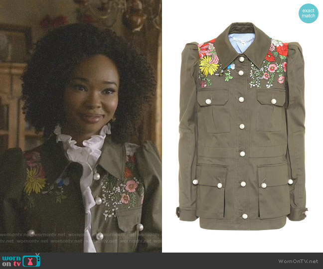 'Huxley' Jacket by Veronica Beard worn by Monica Colby (Wakeema Hollis) on Dynasty